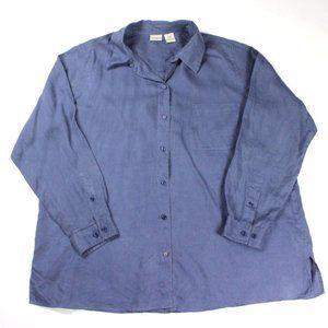 LL Bean Men's  Long Sleeve Shirt Blue Size XL